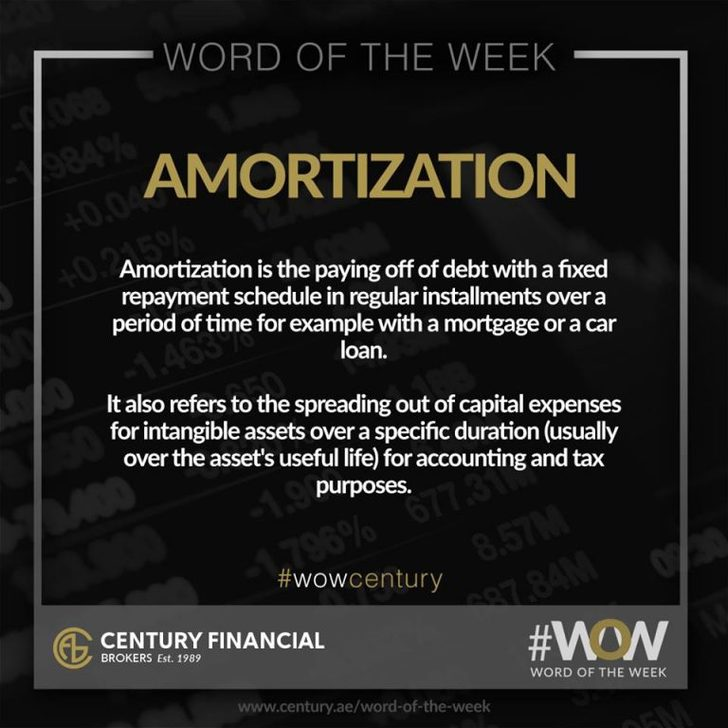 Amortization - Word of the Week   Century Financial