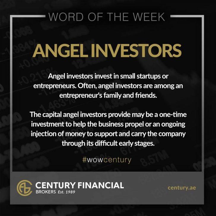Angel Investors - Word of the Week   Century Financial