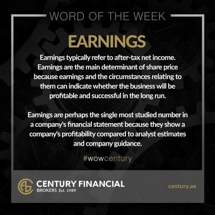 Earnings - Word of the Week | Century Financial