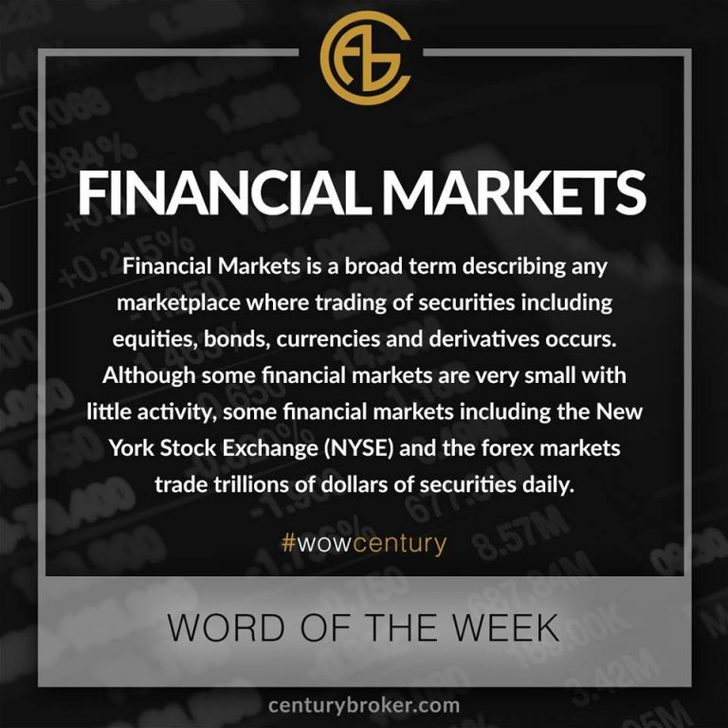 Financial Markets - Word of the Week   Century Financial