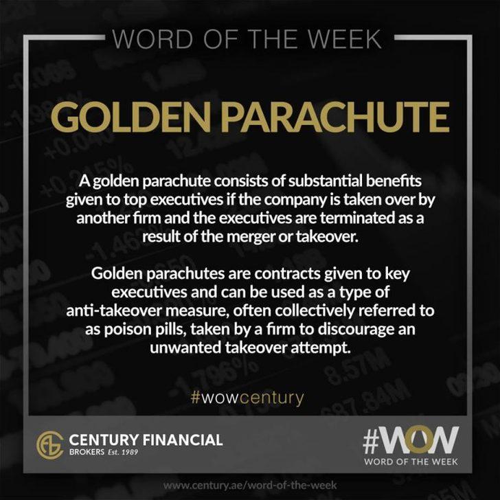 Golden Parachute - Word of the Week   Century Financial