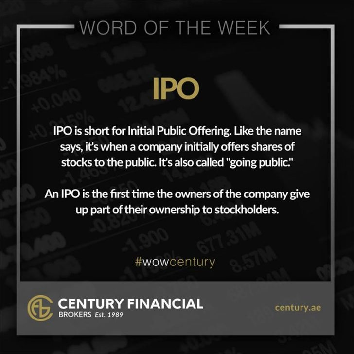 IPO - Word of the Week | Century Financial