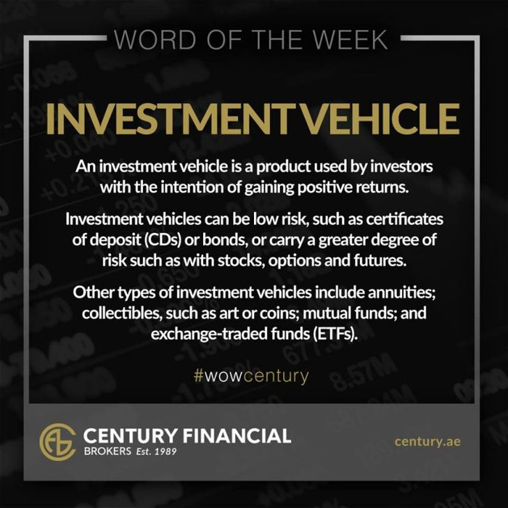 Investment Vehicle - Word of the Week | Century Financial