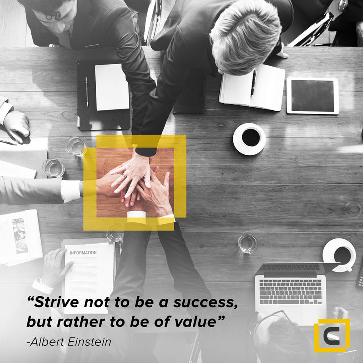Monday motivation - Strive not to be a success, but rather to be of value - Century Financial