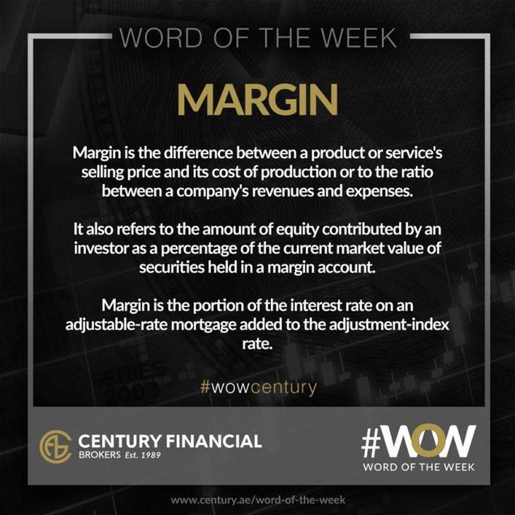 Margin - Word of the Week   Century Financial