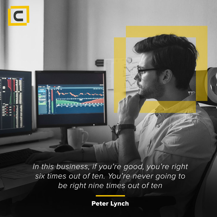 Monday motivation - In this business, if you're good, you're right six times out - Century Financial