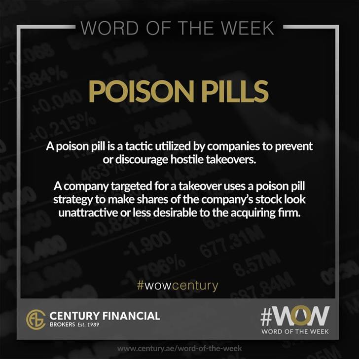 Poison Pills - Word of the Week   Century Financial