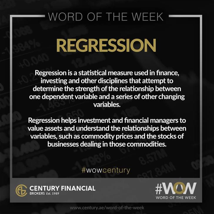 Regression - Word of the Week | Century Financial