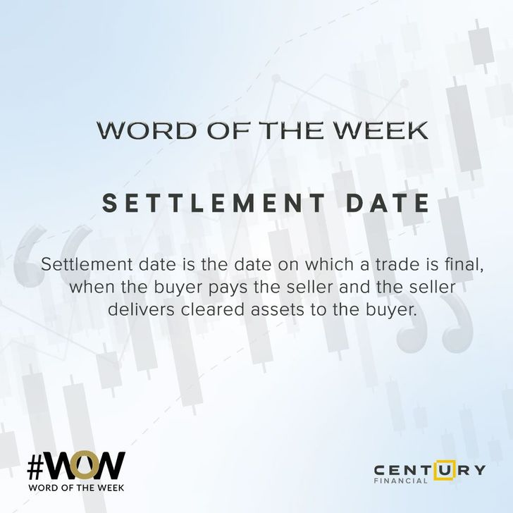 Settlement Date - Word of the Week | Century Financial