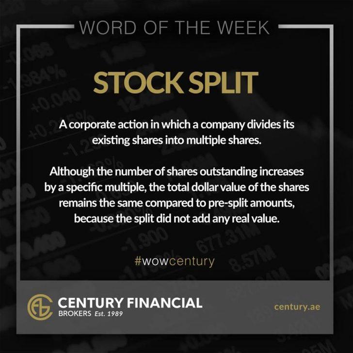 Stock Split - Word of the Week   Century Financial