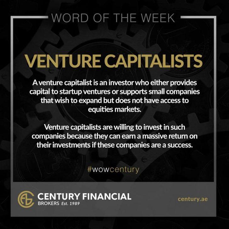 Venture Capitalists - Word of the Week   Century Financial