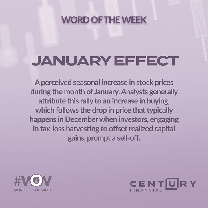 Word of the week - JANUARY EFFECT- Century Financial