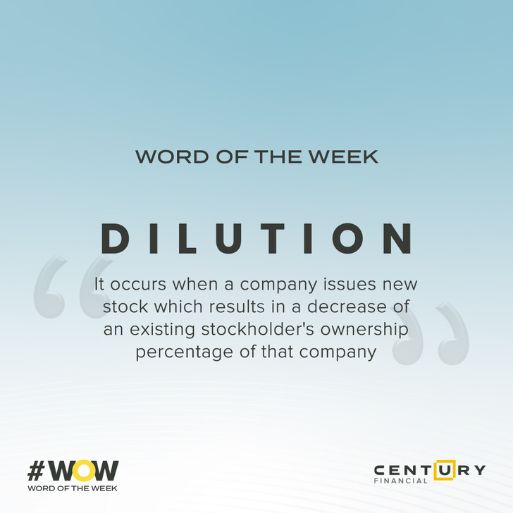 Dilution - Word of the Week | Century Financial