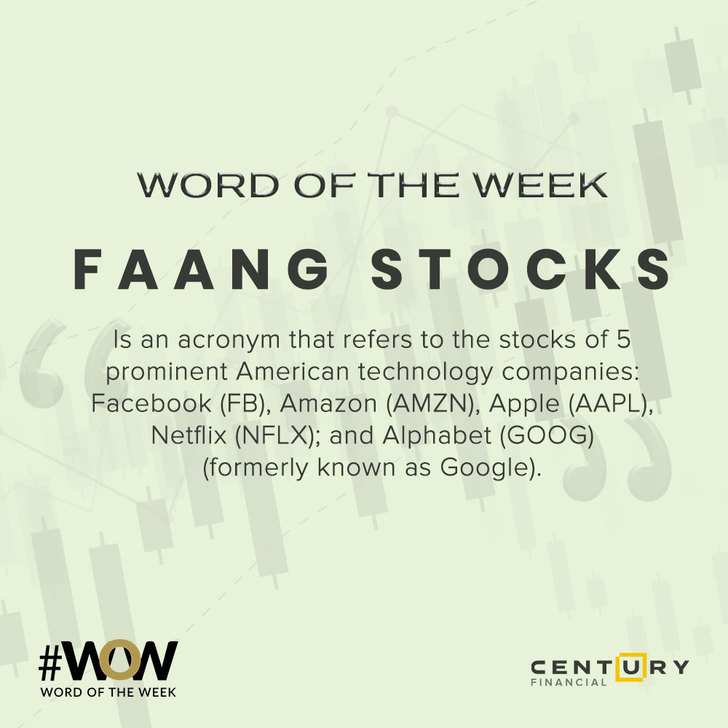FAANG Stocks - Word of the Week   Century Financial