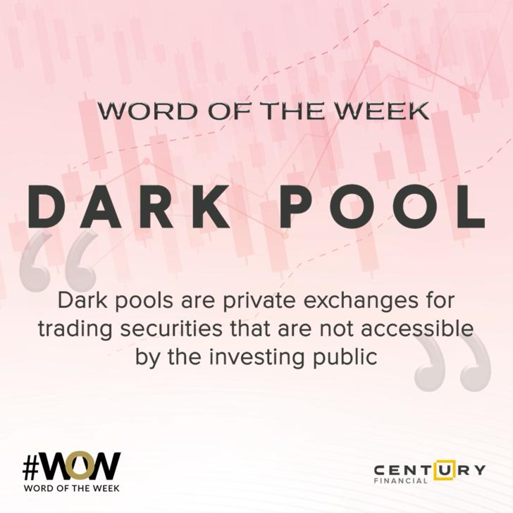 Dark Pool - Word of the Week | Century Financial