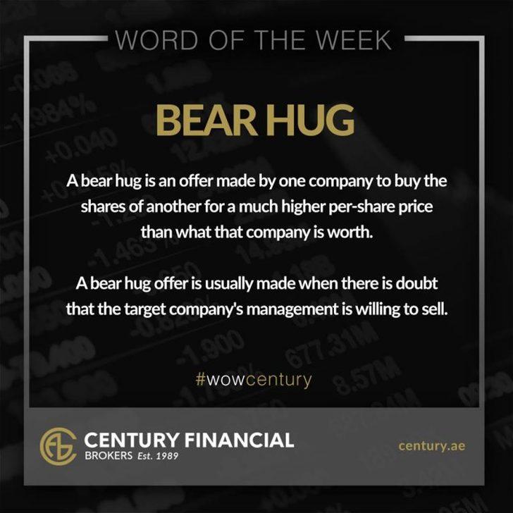 Bear Hug - Word of the Week   Century Financial