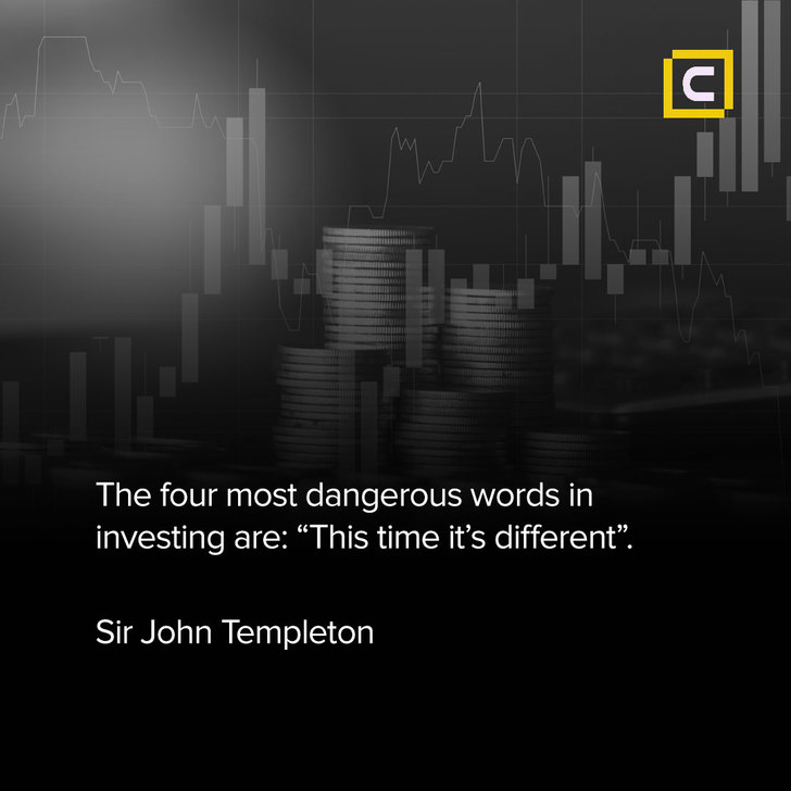 """mm- The four most dangerous words in investing are: """"This time it's different"""".- Century Financial"""
