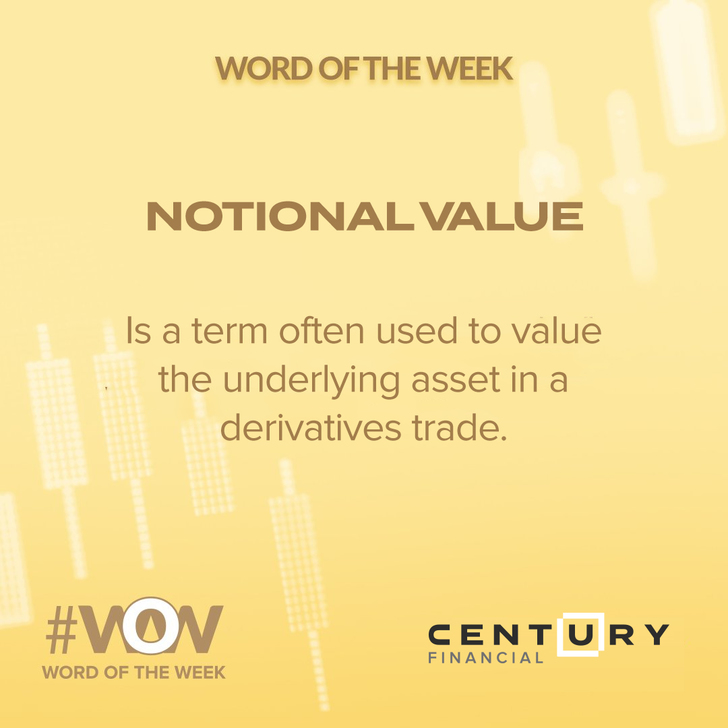 Notional Value - Word of the Week   Century Financial