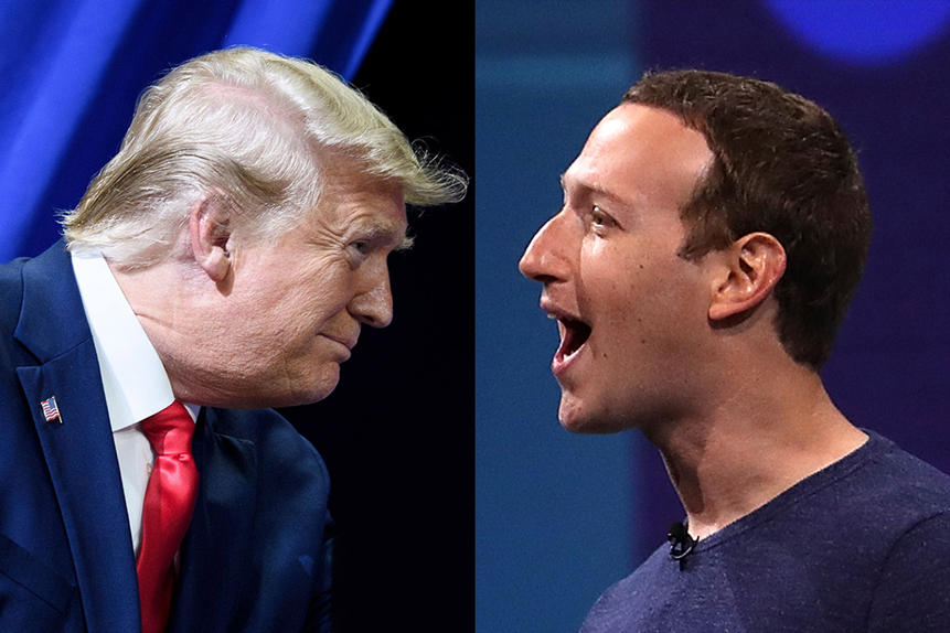 How will Trump's ban affect Twitter and Facebook's share prices?