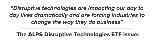 Disruptive technologies are impacting our day to day lives dramatically and are forcing industries to change the way they do business