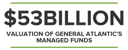 $53BILLION VALUATION OF GENERAL ATLANTIC'S MANAGED FUNDS