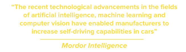 The recent technological advancements in the fields of artificial intelligence, machine learning and computer vision have enabled manufacturers to increase self-driving capabilities in cars
