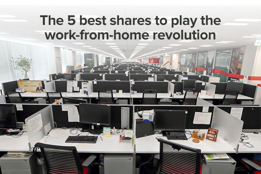 The 5 best shares to play the work-from-home...
