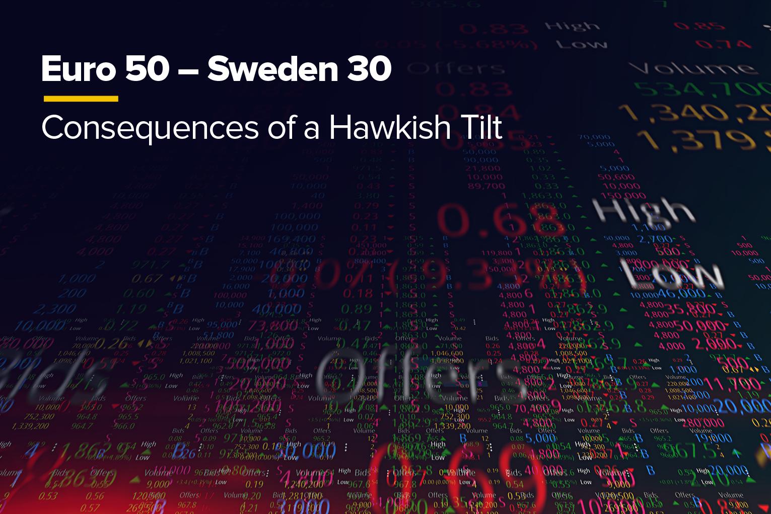 Euro 50 - Sweden 30 Consequences of a Hawkish Tilt