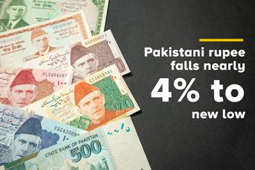 Gulf News – Pakistani rupee falls nearly 4% to...