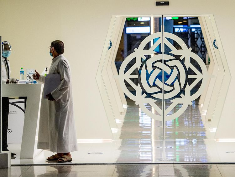 Gulf News - UAE stock markets give a guarded...