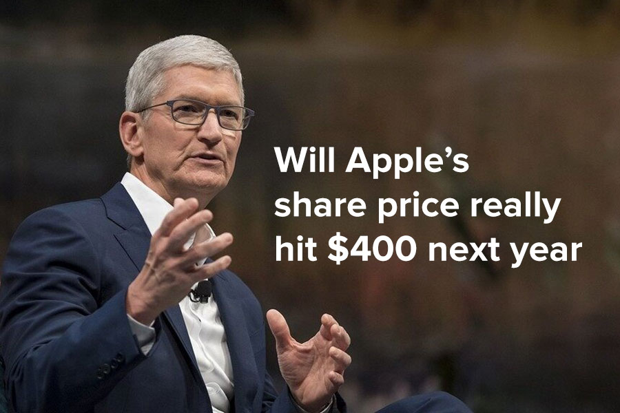 Will Apple's share price really hit $400 next...