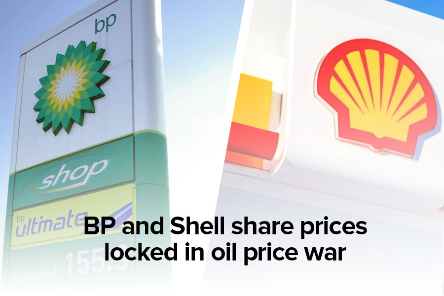 BP and Shell share prices locked in oil price war