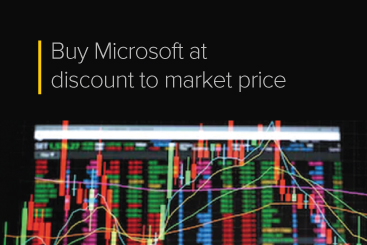 Buy Microsoft at discount to market price
