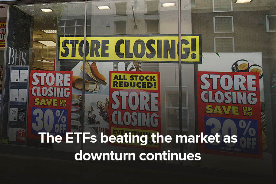 The ETFs beating the market as downturn continues