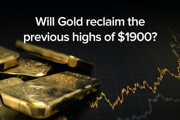 Will Gold reclaim the previous highs of $1900?