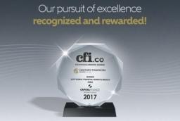 "Century Financial awarded ""BEST GLOBAL..."