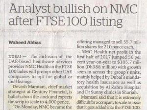 Khaleej Times – Analyst bullish on NMC stock...