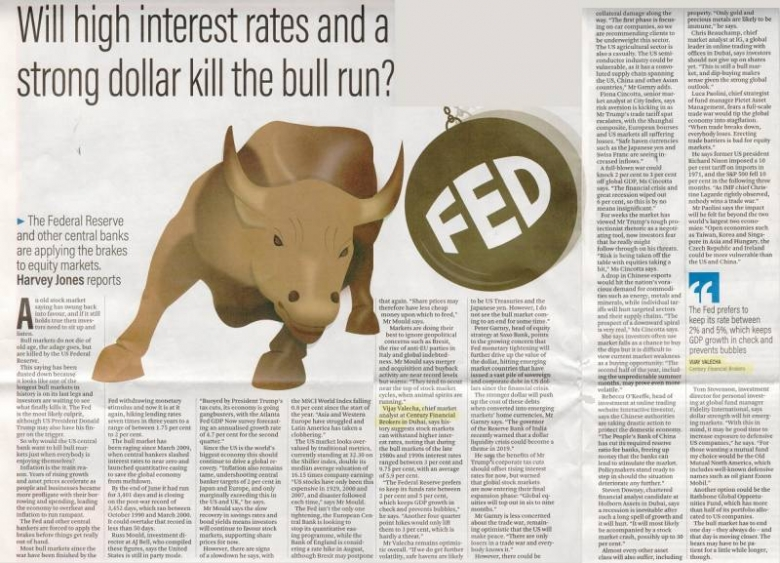 The National – Will higher US interest rates...