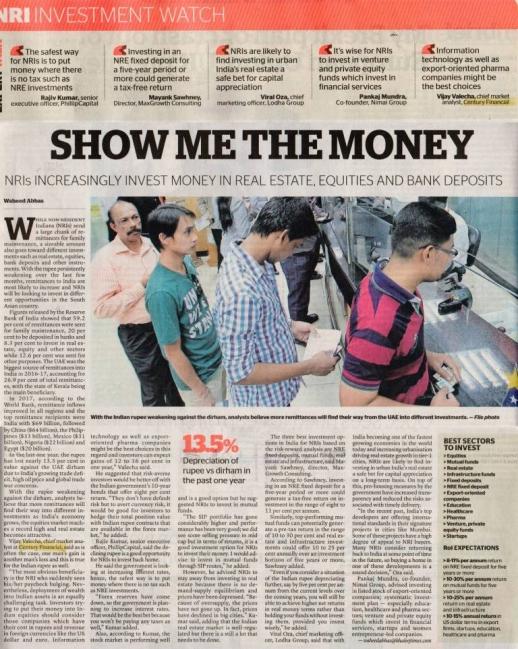 Khaleej Times – Rupee weakens against Dirham:...