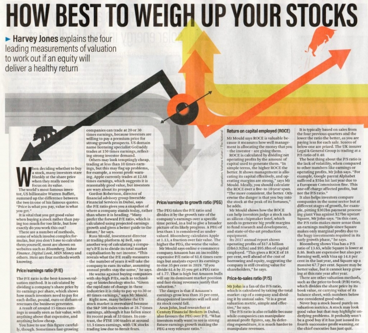 The National – How to work out if a stock is...