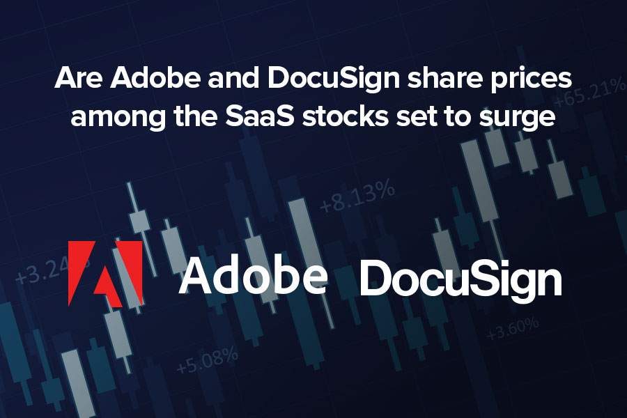 Are Adobe and DocuSign share prices among the...