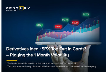 Derivatives Idea : SPX Top Out in Cards?  – Playing the 1 Month Volatility