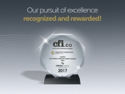 "Century Financial awarded ""BEST GLOBAL..."