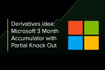 Derivatives Idea: Microsoft 3 Month Accumulator with Partial Knock Out